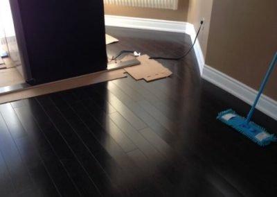 Installing a dark hardwood floor - Floors Direct North