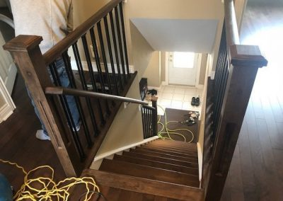 Working on a custom staircase - Floors Direct North